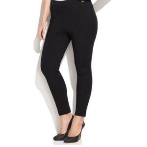 Calvin Klein Black Ponte Skinny Ankle Work Pants